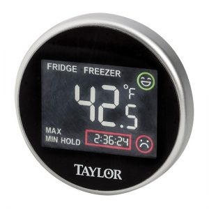 Taylor 1445 Pro Series Digital Fridge-Freezer Thermometer with Safety Zone